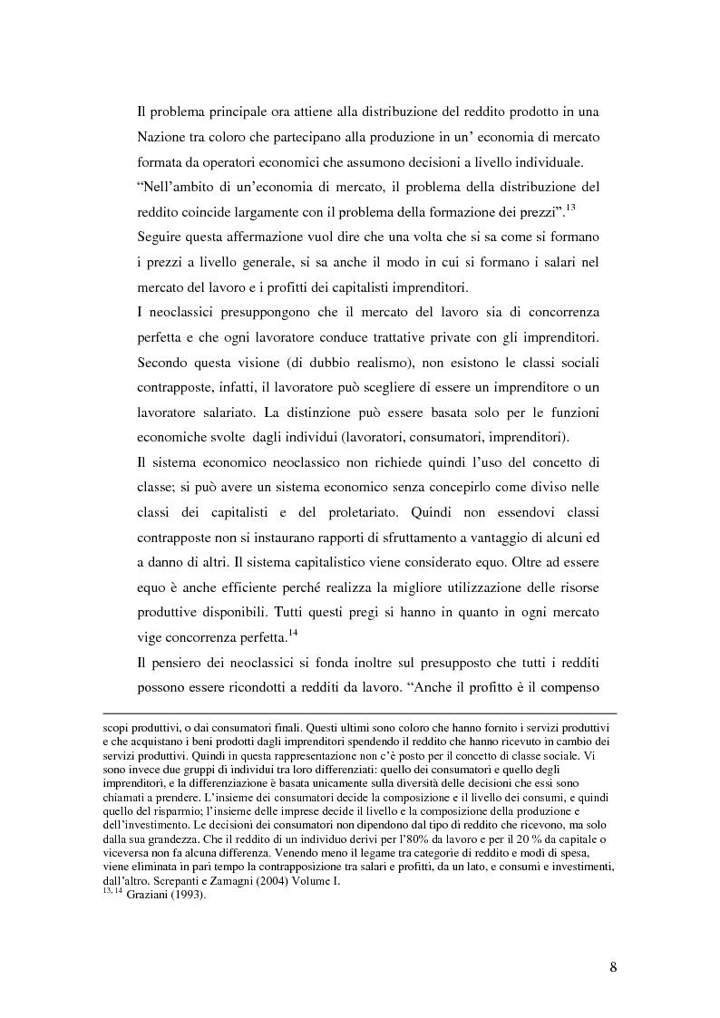 Anteprima della tesi: La distribuzione del reddito dentro e tra le classi sociali: un confronto internazionale, Pagina 8