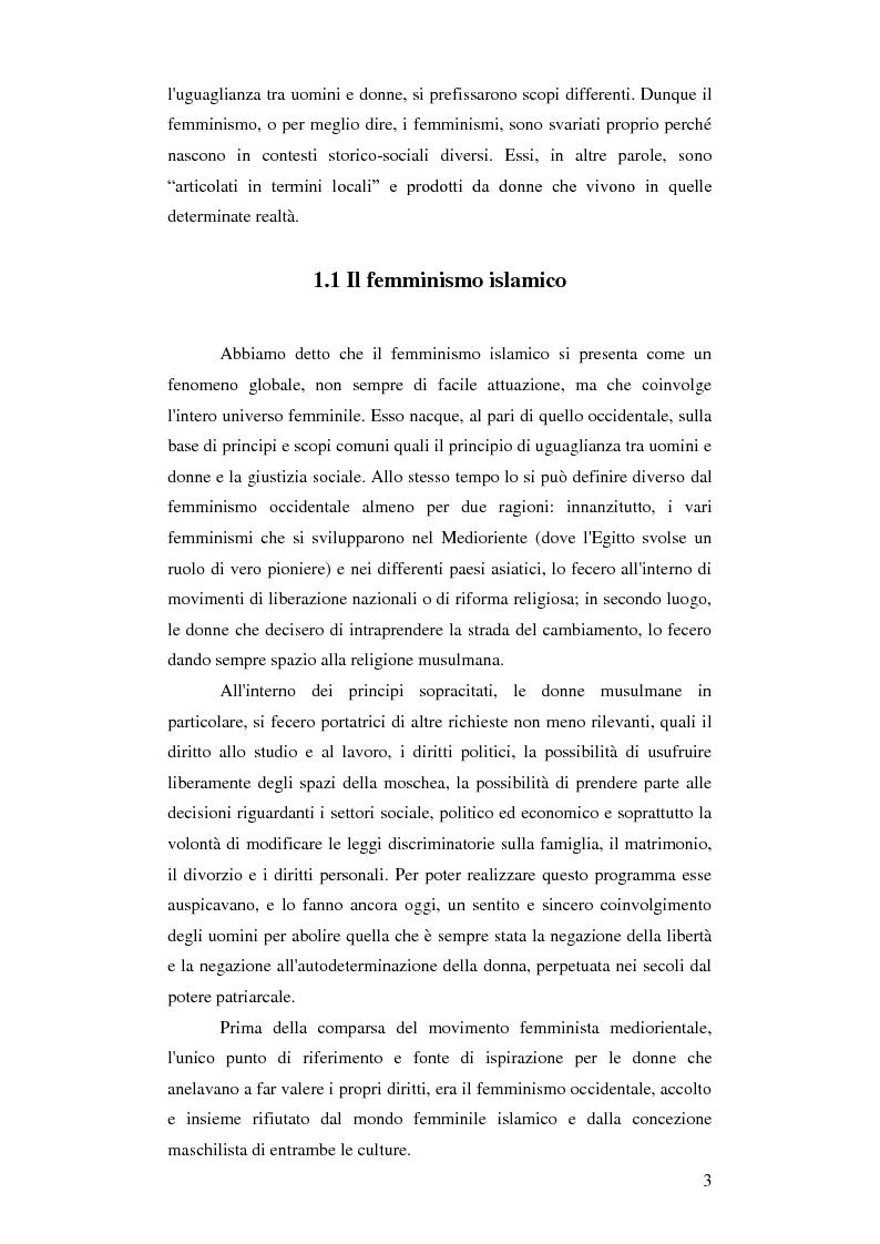 Anteprima della tesi: Femminismi Islamici: una tesi comparativa tra storie e memorie., Pagina 4