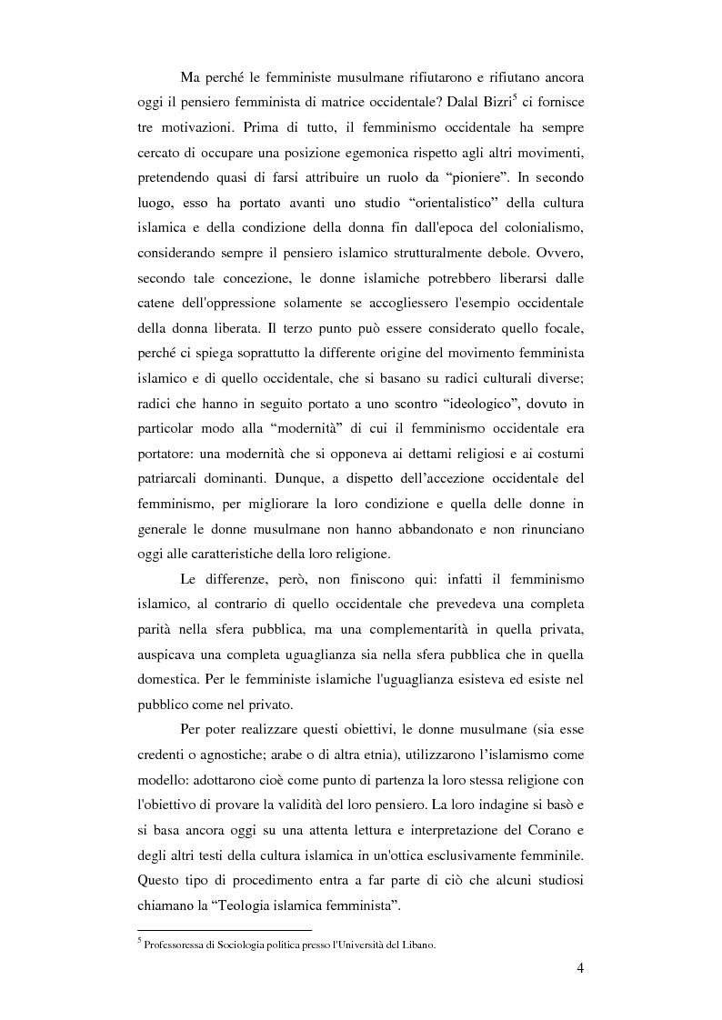 Anteprima della tesi: Femminismi Islamici: una tesi comparativa tra storie e memorie., Pagina 5