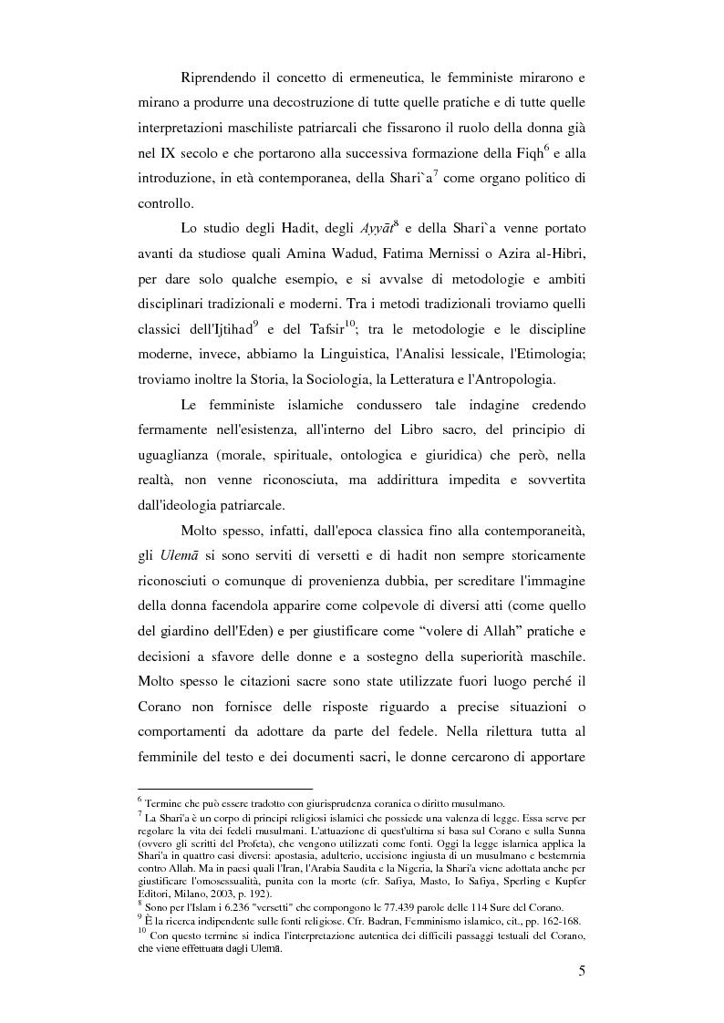 Anteprima della tesi: Femminismi Islamici: una tesi comparativa tra storie e memorie., Pagina 6