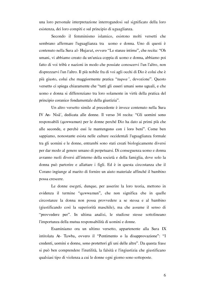 Anteprima della tesi: Femminismi Islamici: una tesi comparativa tra storie e memorie., Pagina 7