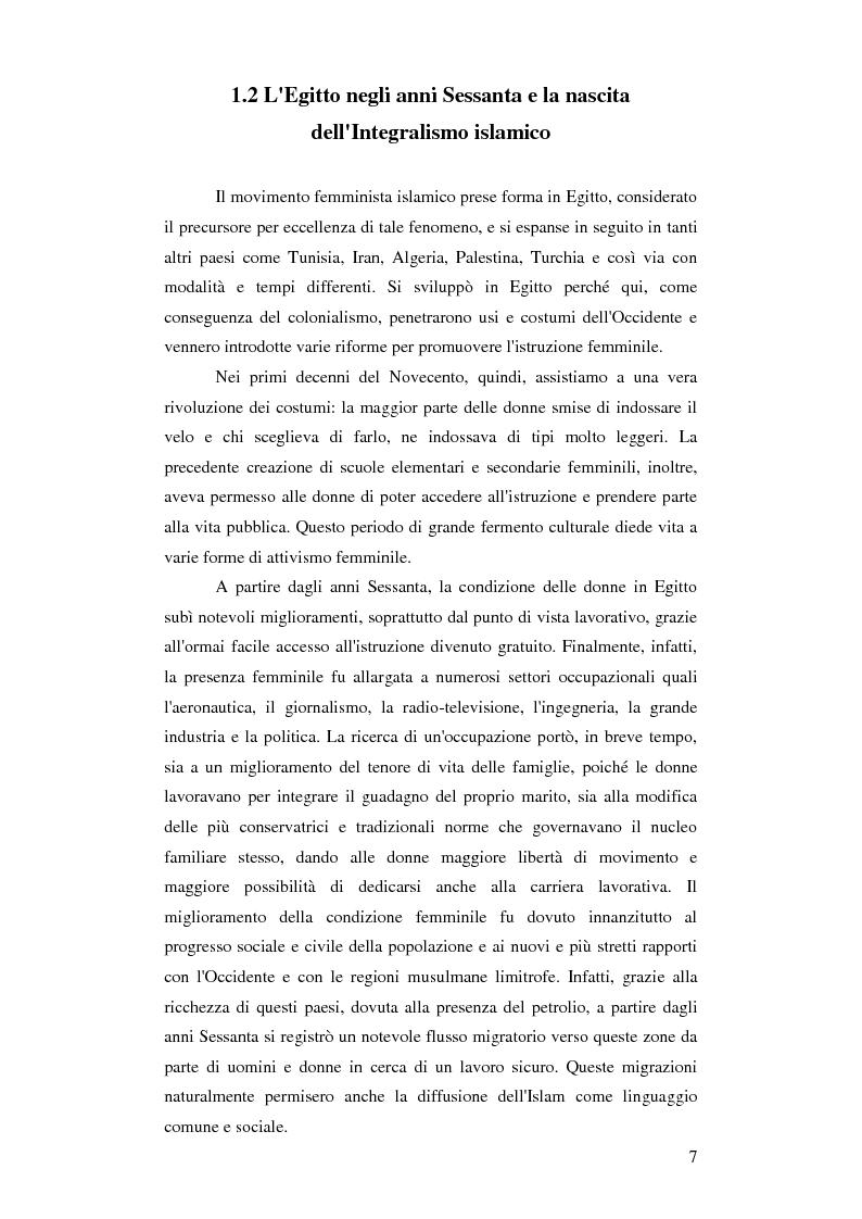 Anteprima della tesi: Femminismi Islamici: una tesi comparativa tra storie e memorie., Pagina 8