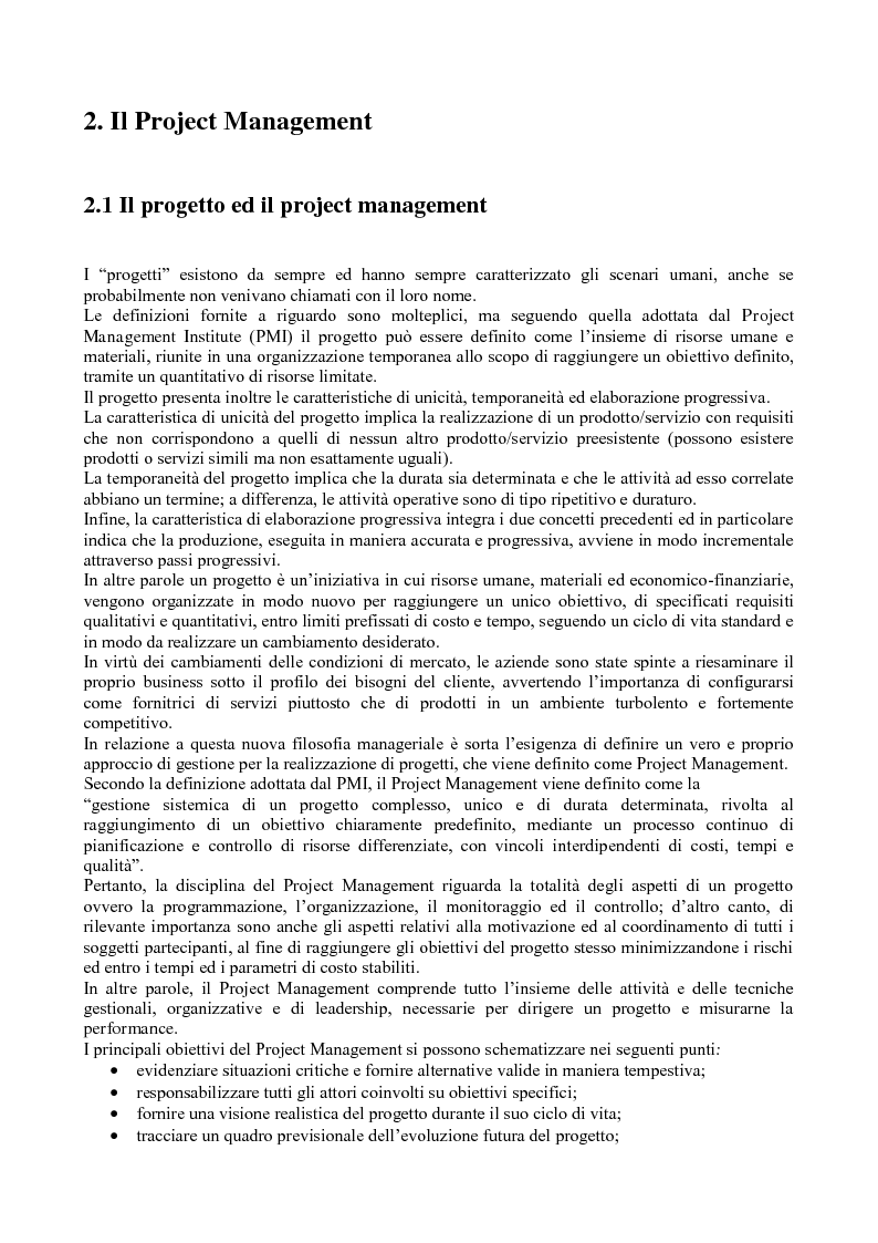 Anteprima della tesi: La gestione dei progetti d'ingegneria: applicazione alla costruzione di una galleria ferroviaria, Pagina 3