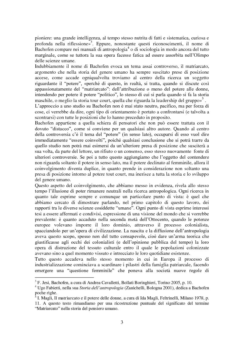 Anteprima della tesi: L'antropologia giuridica nell'opera di Johann Jakob Bachofen, Pagina 2