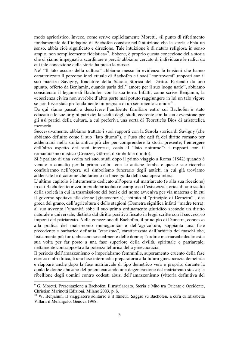 Anteprima della tesi: L'antropologia giuridica nell'opera di Johann Jakob Bachofen, Pagina 4