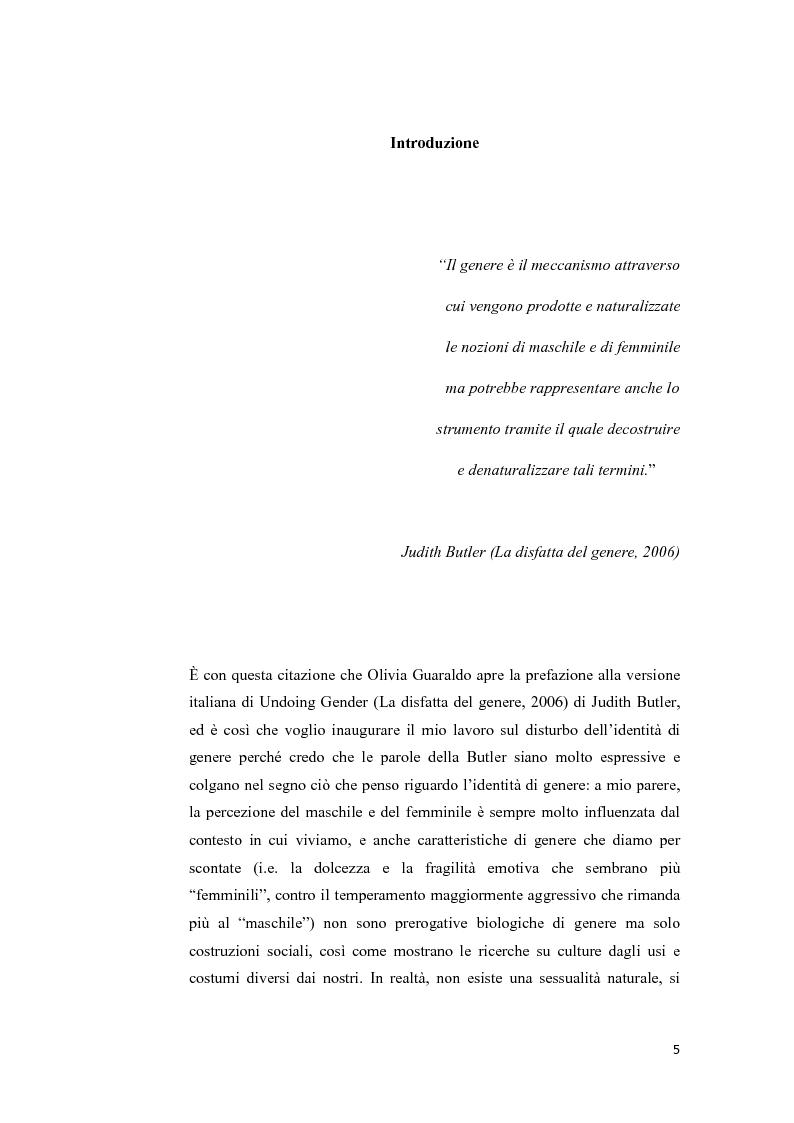 Anteprima della tesi: Disturbo dell'identità di genere: attuali direzioni di ricerca, Pagina 1