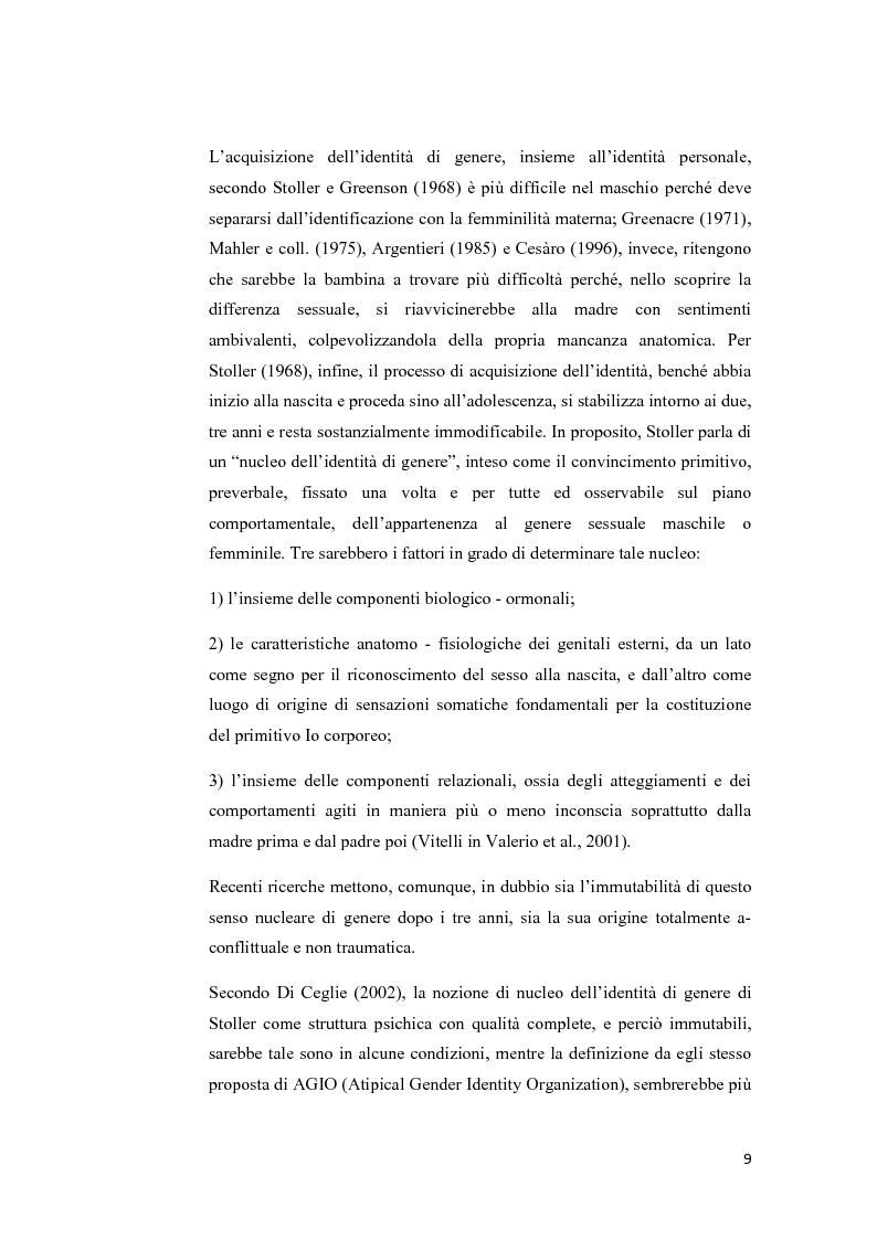 Anteprima della tesi: Disturbo dell'identità di genere: attuali direzioni di ricerca, Pagina 5