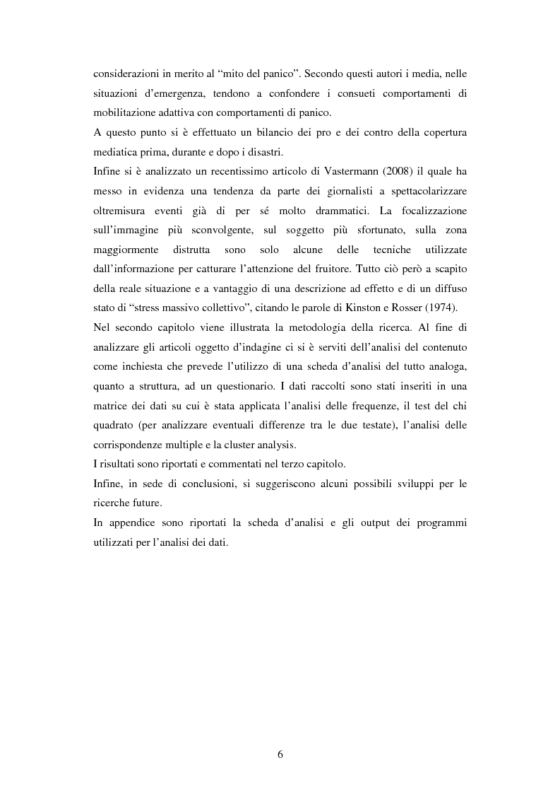 Anteprima della tesi: La rappresentazione delle catastrofi nei mezzi di informazione: il terremoto d'Abruzzo del 2009, Pagina 3