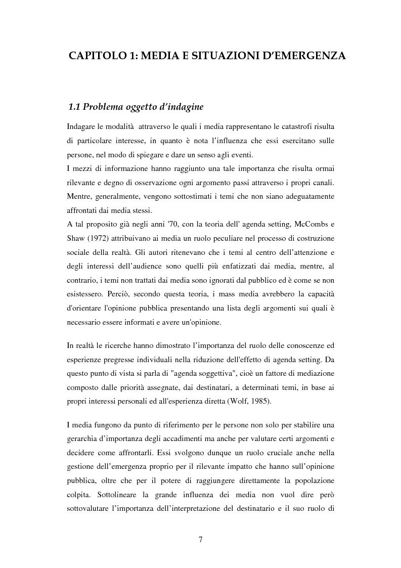 Anteprima della tesi: La rappresentazione delle catastrofi nei mezzi di informazione: il terremoto d'Abruzzo del 2009, Pagina 4