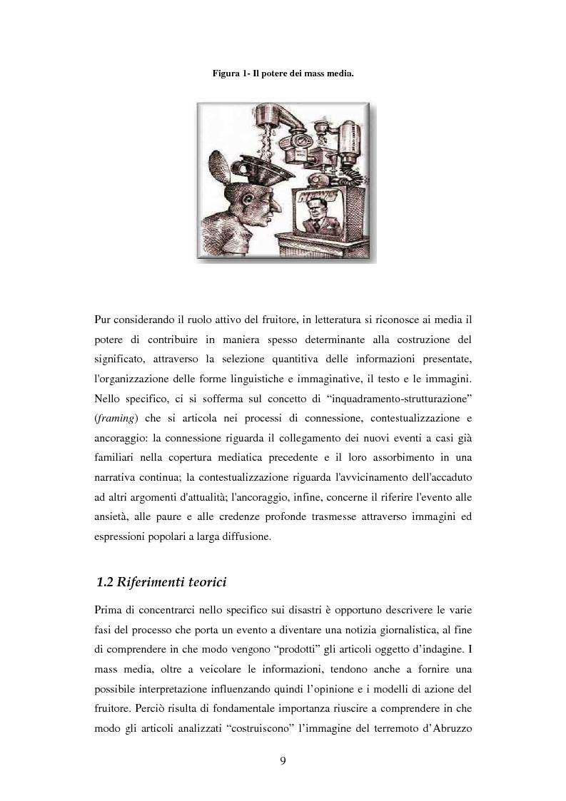 Anteprima della tesi: La rappresentazione delle catastrofi nei mezzi di informazione: il terremoto d'Abruzzo del 2009, Pagina 6