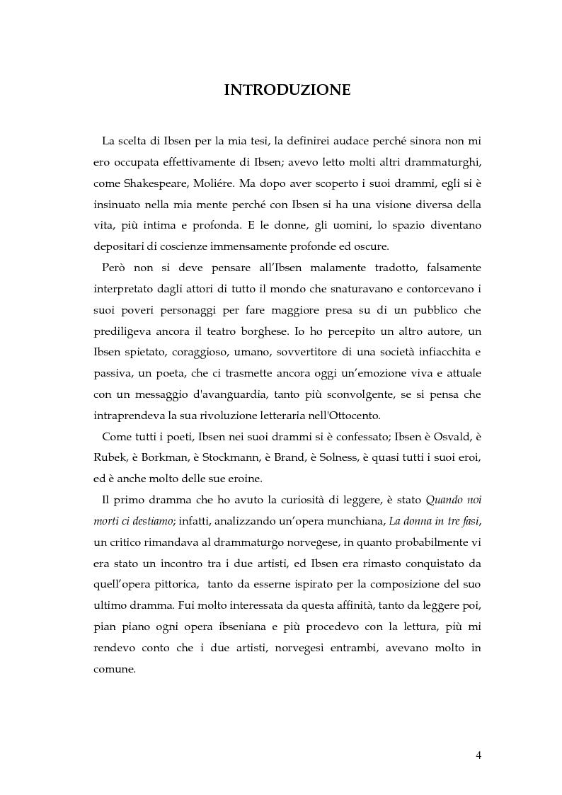 Anteprima della tesi: Spazio e personaggio nel teatro di Ibsen con riferimenti alla produzione di Munch, Pagina 1