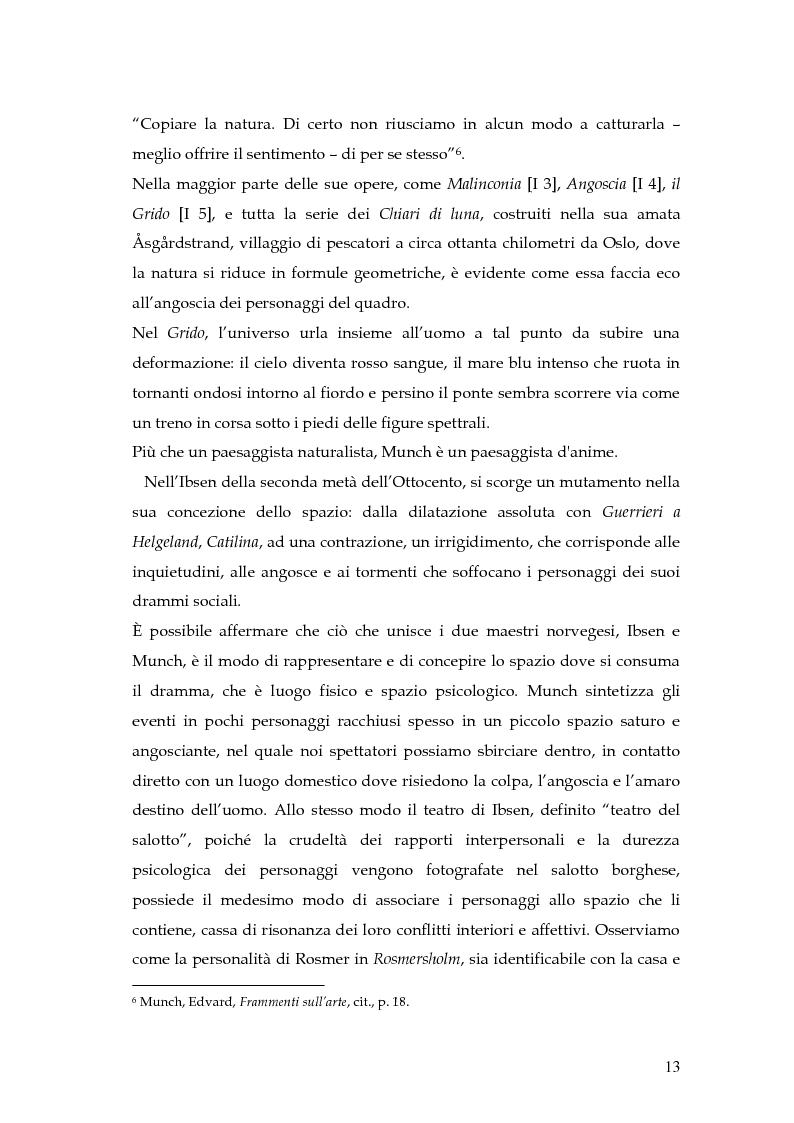 Anteprima della tesi: Spazio e personaggio nel teatro di Ibsen con riferimenti alla produzione di Munch, Pagina 10