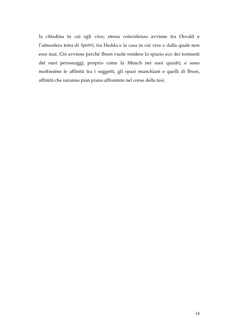 Anteprima della tesi: Spazio e personaggio nel teatro di Ibsen con riferimenti alla produzione di Munch, Pagina 11