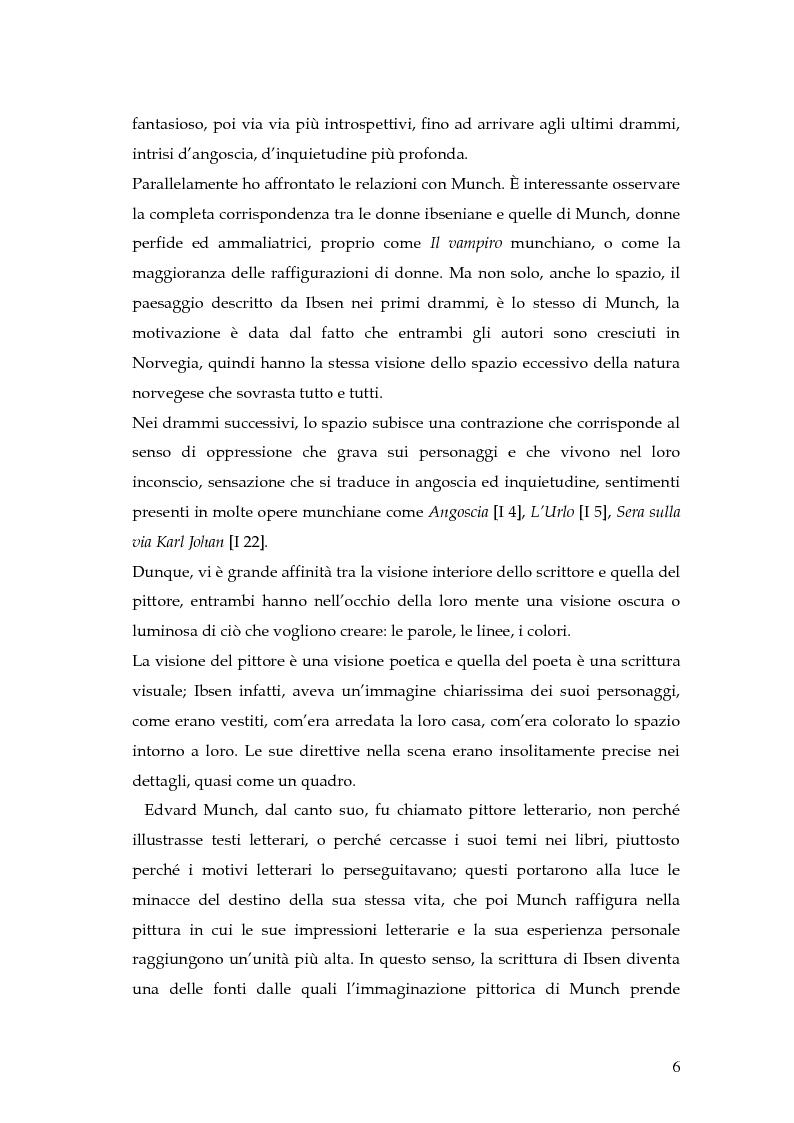 Anteprima della tesi: Spazio e personaggio nel teatro di Ibsen con riferimenti alla produzione di Munch, Pagina 3