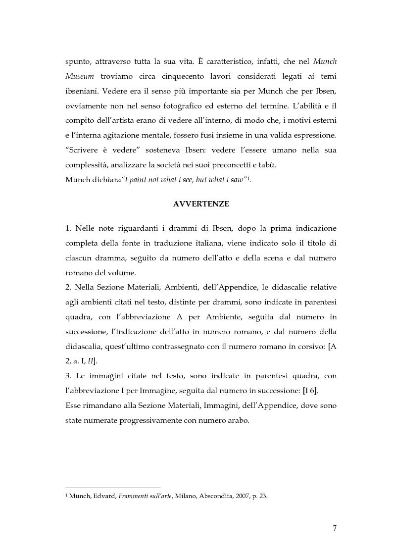 Anteprima della tesi: Spazio e personaggio nel teatro di Ibsen con riferimenti alla produzione di Munch, Pagina 4