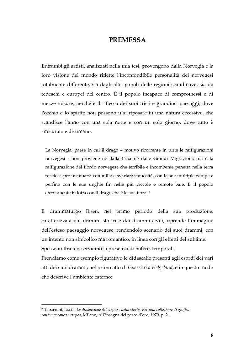Anteprima della tesi: Spazio e personaggio nel teatro di Ibsen con riferimenti alla produzione di Munch, Pagina 5