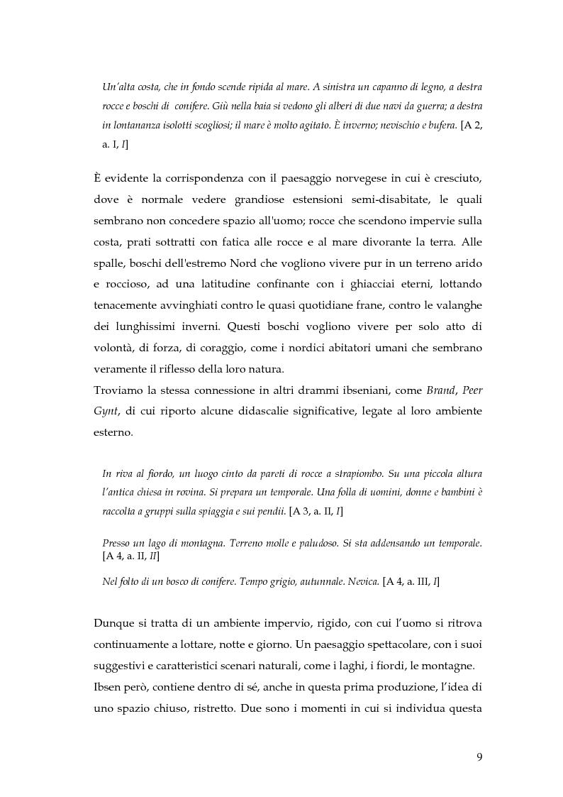 Anteprima della tesi: Spazio e personaggio nel teatro di Ibsen con riferimenti alla produzione di Munch, Pagina 6