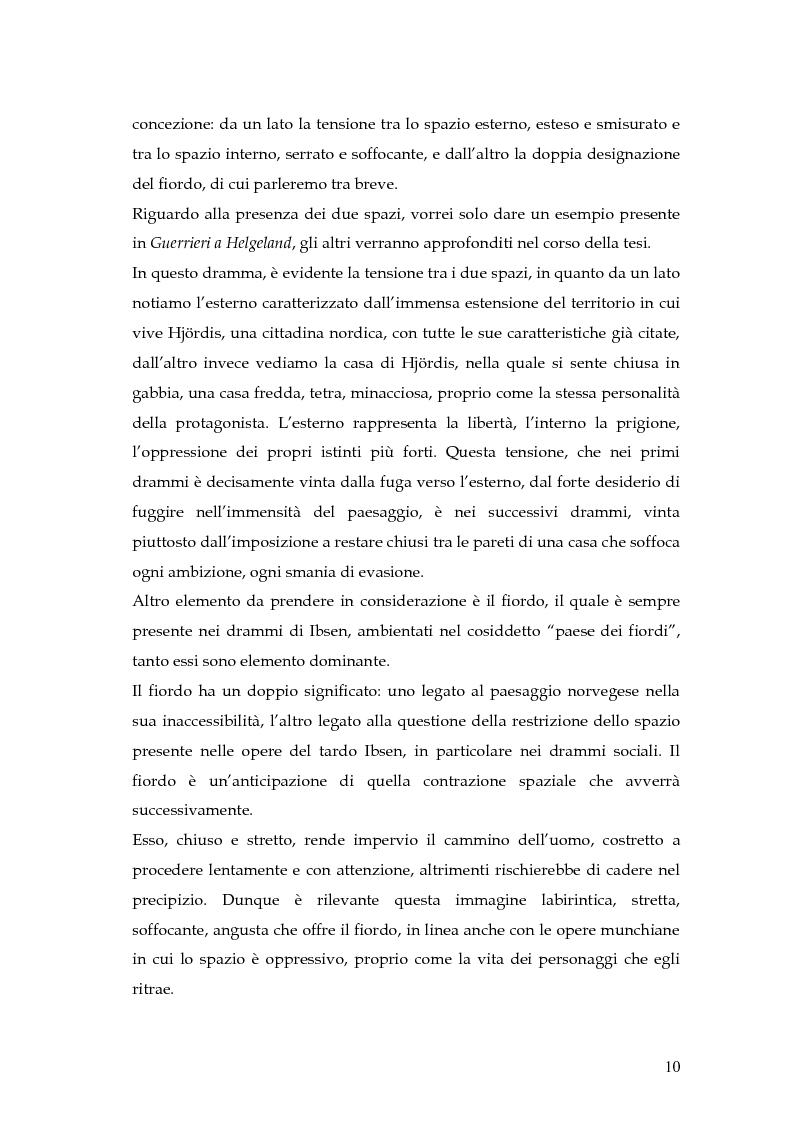 Anteprima della tesi: Spazio e personaggio nel teatro di Ibsen con riferimenti alla produzione di Munch, Pagina 7