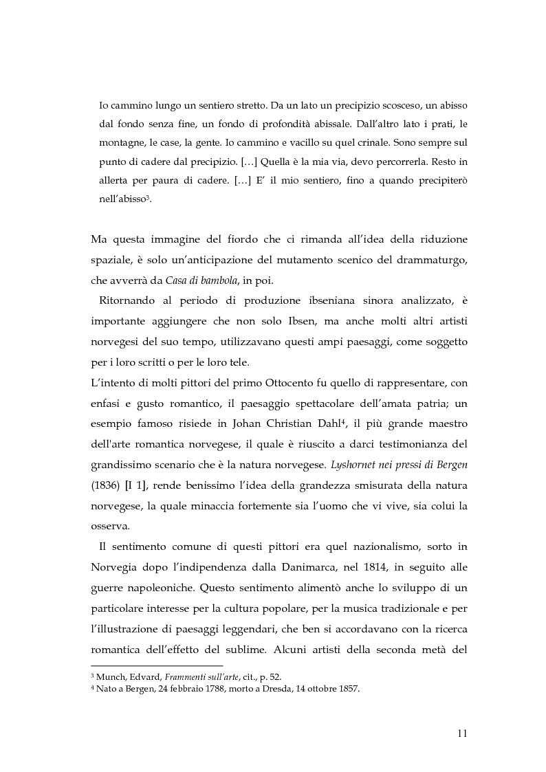 Anteprima della tesi: Spazio e personaggio nel teatro di Ibsen con riferimenti alla produzione di Munch, Pagina 8