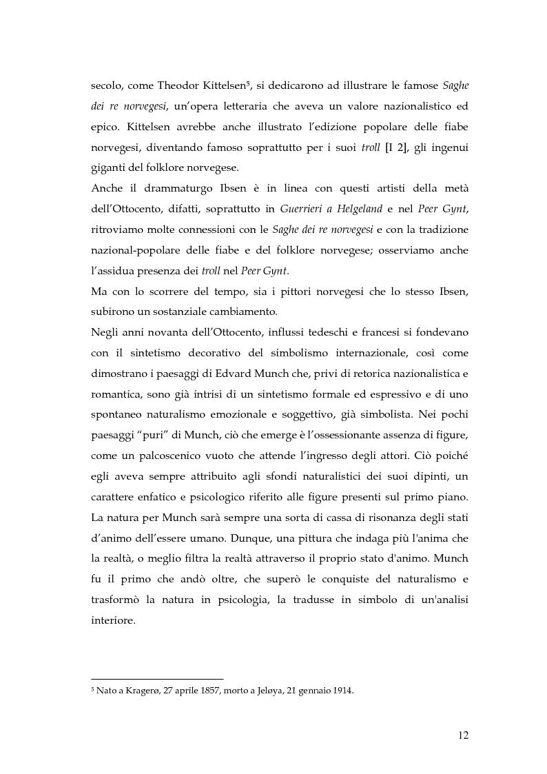 Anteprima della tesi: Spazio e personaggio nel teatro di Ibsen con riferimenti alla produzione di Munch, Pagina 9