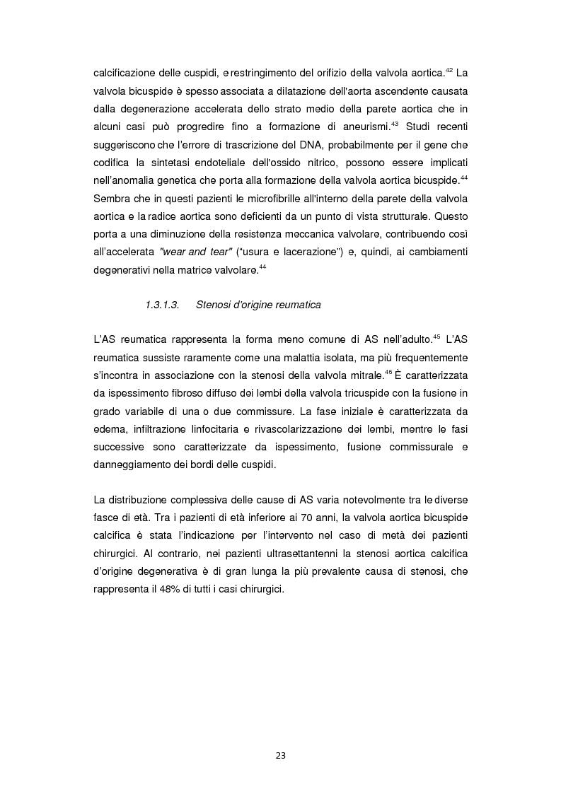 Anteprima della tesi: Nuove frontiere nella chirurgia sostitutiva della valvola aortica, Pagina 15