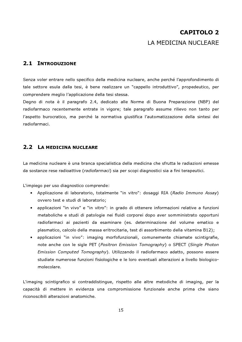 Anteprima della tesi: Progetto e realizzazione prototipale di una scheda elettronica per la misura di radioattività in moduli per la sintesi di radiofarmaci per la medicina nucleare, Pagina 5