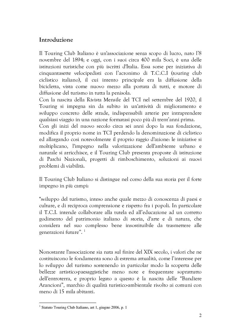 Anteprima della tesi: Alcune forme di scrittura per il turismo a confronto , Pagina 1