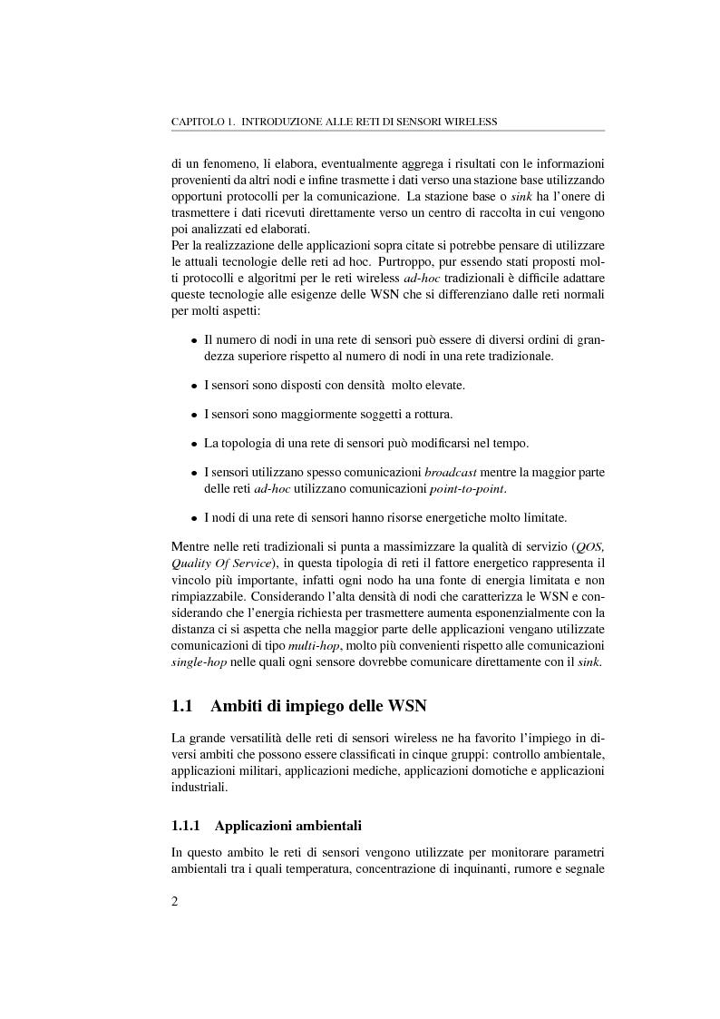 Anteprima della tesi: Massimizzare il lifetime di una rete wireless mediante il posizionamento ottimo dei sensori, Pagina 2
