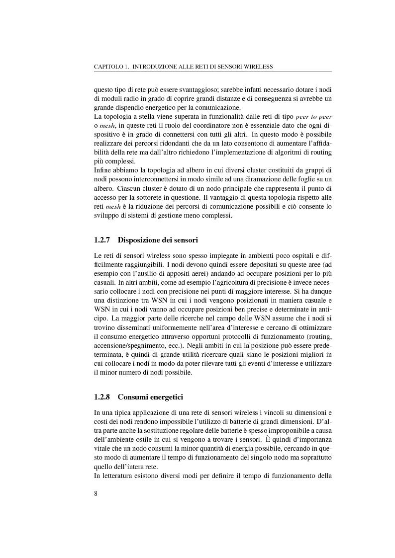 Anteprima della tesi: Massimizzare il lifetime di una rete wireless mediante il posizionamento ottimo dei sensori, Pagina 8