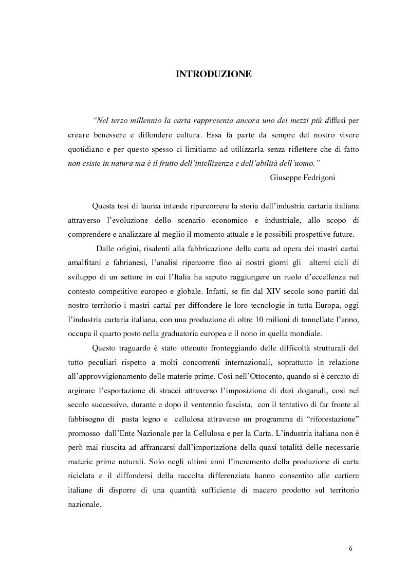 Anteprima della tesi: Tra tradizione e innovazione: l'industria della carta in Italia, Pagina 1