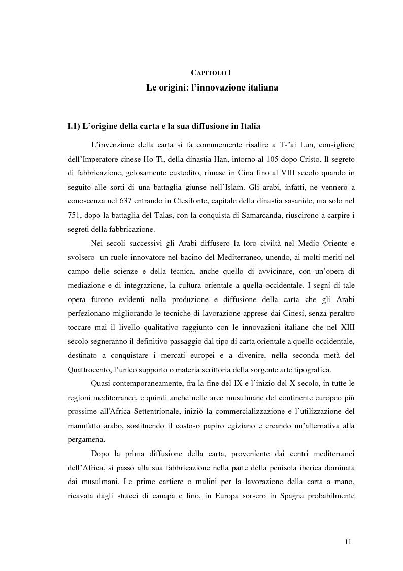 Anteprima della tesi: Tra tradizione e innovazione: l'industria della carta in Italia, Pagina 6
