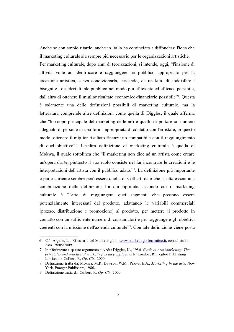 Anteprima della tesi: Performing arts marketing e management, Pagina 10