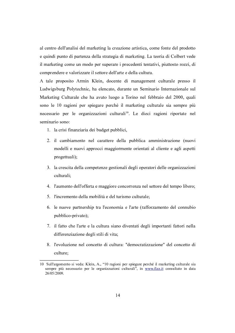Anteprima della tesi: Performing arts marketing e management, Pagina 11
