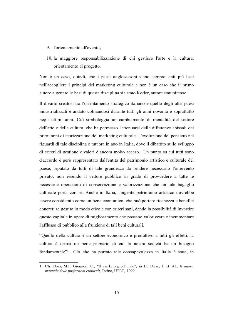 Anteprima della tesi: Performing arts marketing e management, Pagina 12