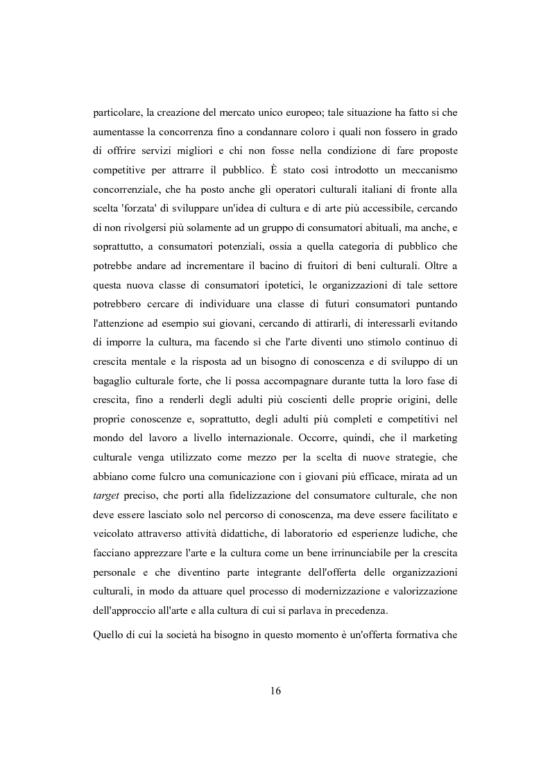 Anteprima della tesi: Performing arts marketing e management, Pagina 13