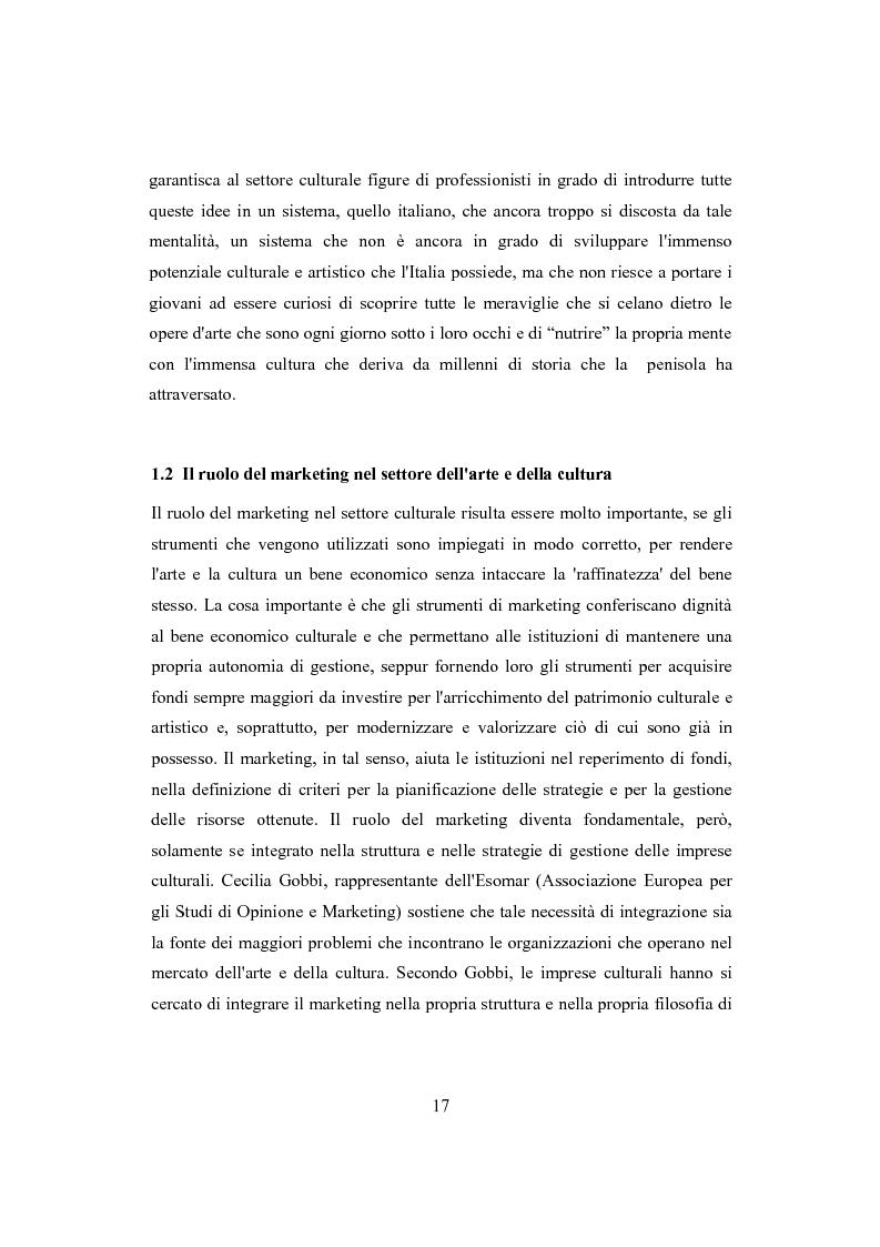 Anteprima della tesi: Performing arts marketing e management, Pagina 14