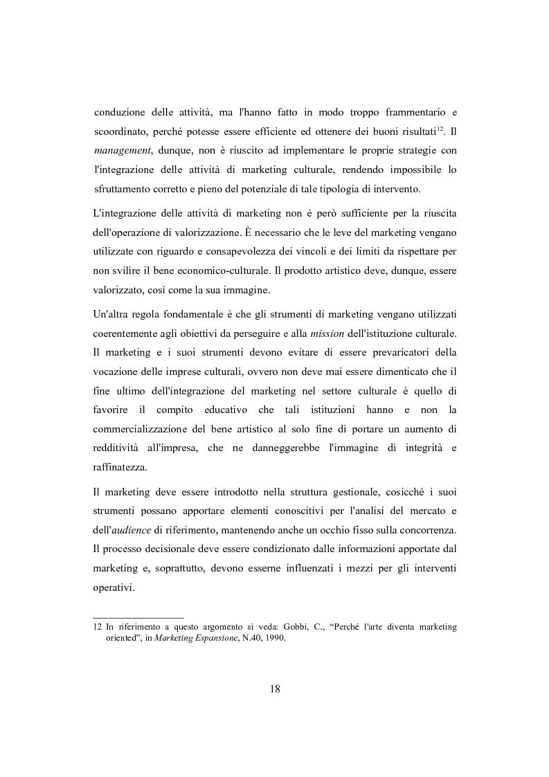 Anteprima della tesi: Performing arts marketing e management, Pagina 15