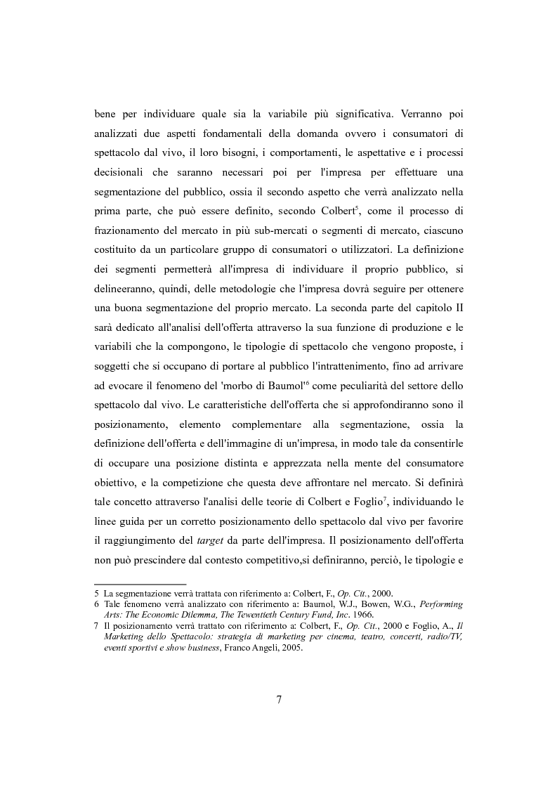 Anteprima della tesi: Performing arts marketing e management, Pagina 4