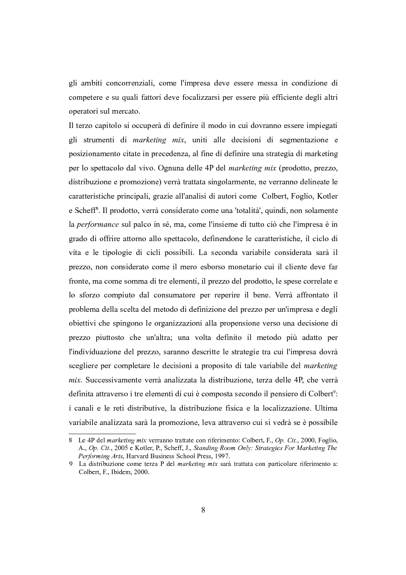 Anteprima della tesi: Performing arts marketing e management, Pagina 5