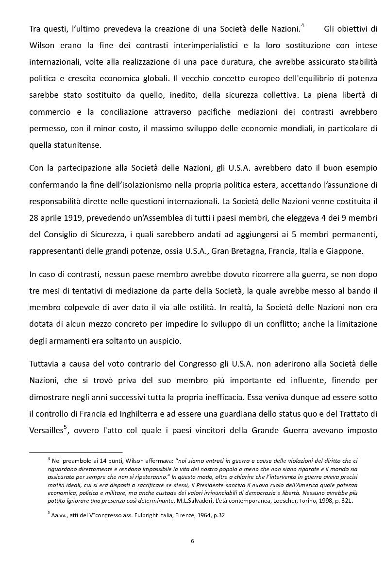 Anteprima della tesi: La Risoluzione Fulbright per gli Stati Uniti d'Europa. La visione americana dell'Europa dopo il secondo conflitto mondiale, Pagina 4