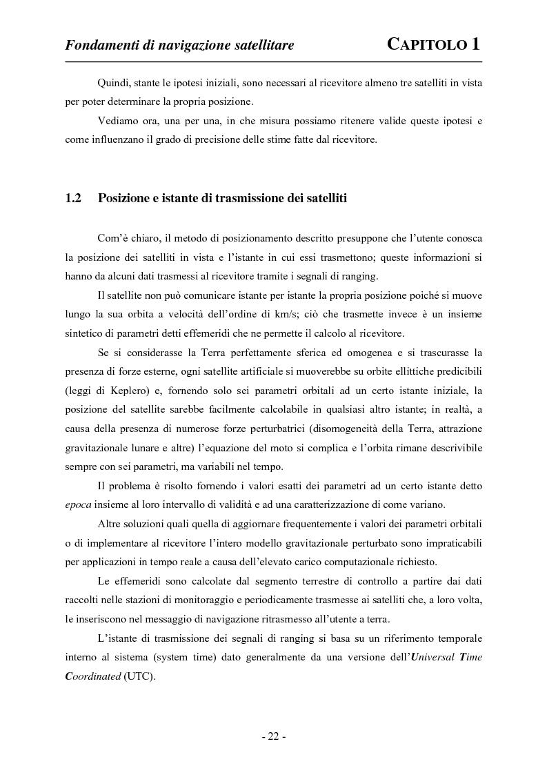 Anteprima della tesi: Analisi ed applicazioni aerospaziali del SIS (Signal In Space) del sistema Galileo, Pagina 12