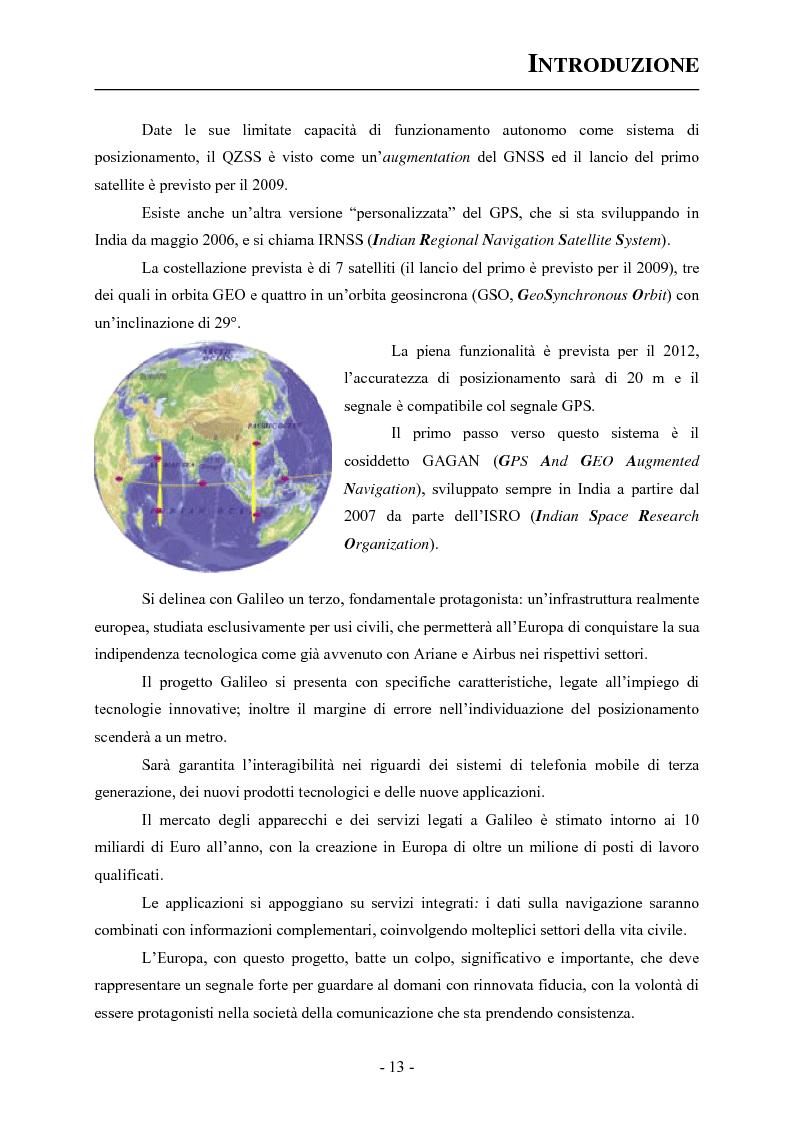 Anteprima della tesi: Analisi ed applicazioni aerospaziali del SIS (Signal In Space) del sistema Galileo, Pagina 3