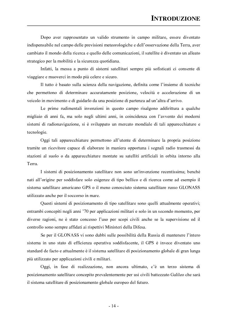 Anteprima della tesi: Analisi ed applicazioni aerospaziali del SIS (Signal In Space) del sistema Galileo, Pagina 4