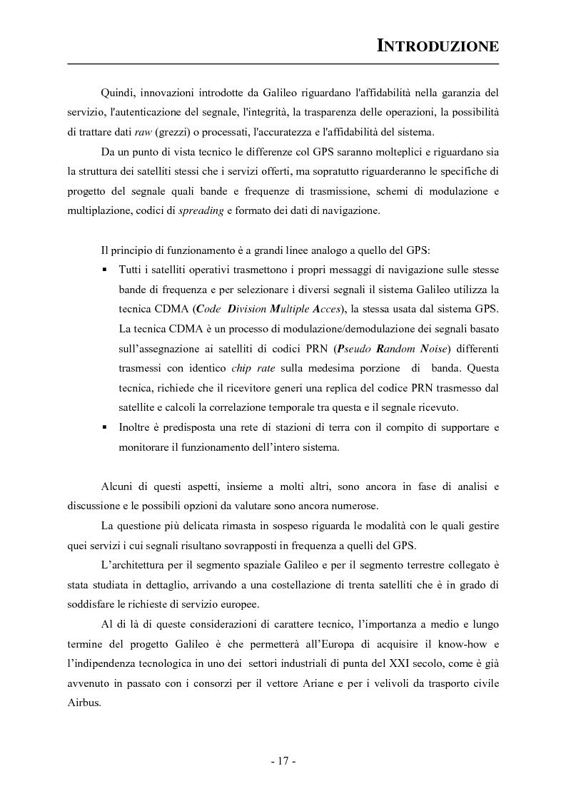 Anteprima della tesi: Analisi ed applicazioni aerospaziali del SIS (Signal In Space) del sistema Galileo, Pagina 7