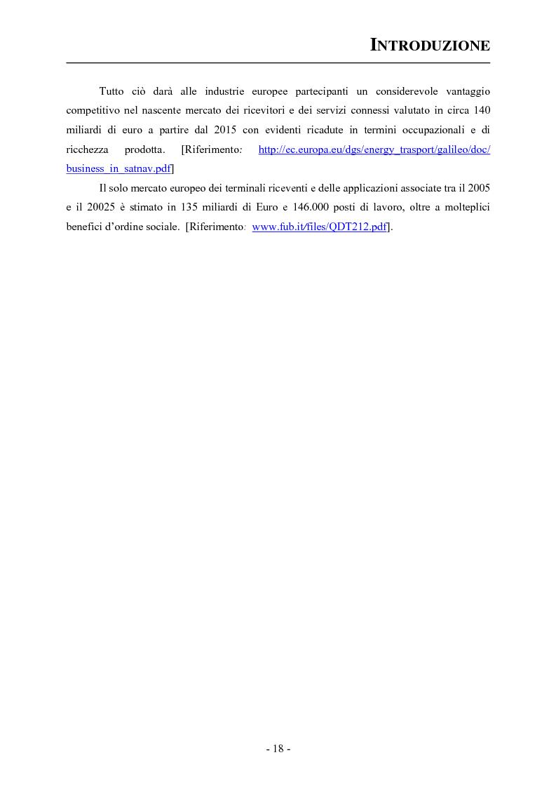 Anteprima della tesi: Analisi ed applicazioni aerospaziali del SIS (Signal In Space) del sistema Galileo, Pagina 8