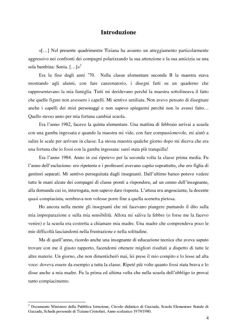 Anteprima della tesi: Identità umana, storia, letteratura. Il rapporto docente-studente., Pagina 1