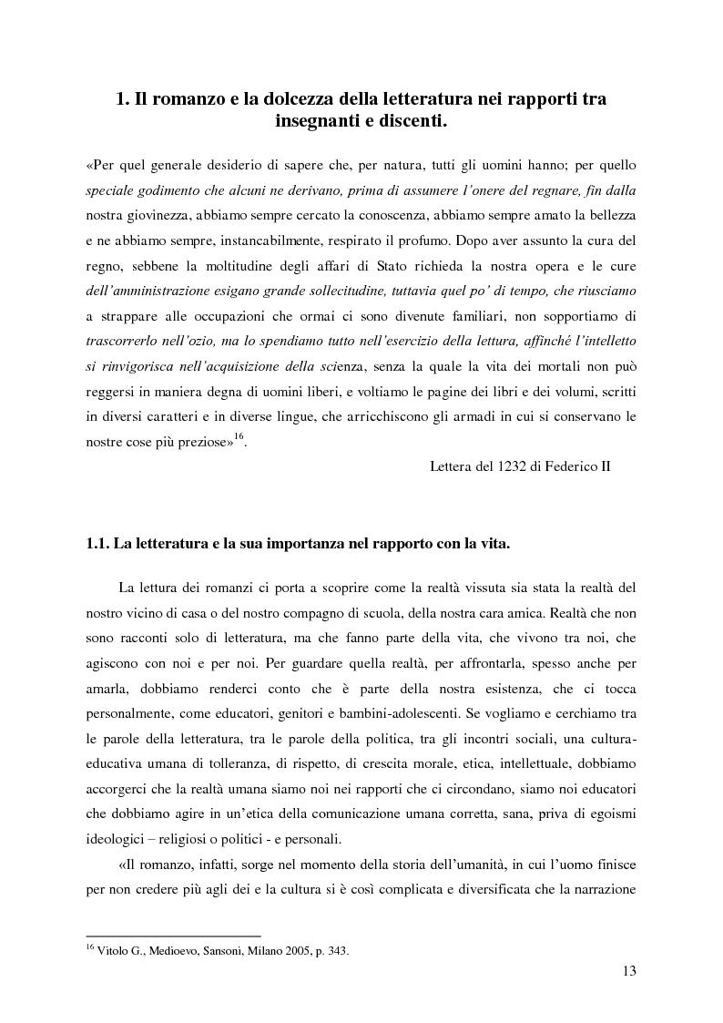 Anteprima della tesi: Identità umana, storia, letteratura. Il rapporto docente-studente., Pagina 10