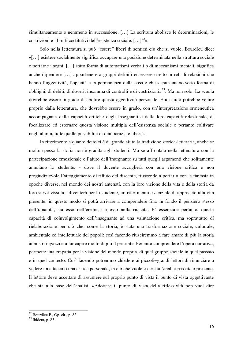 Anteprima della tesi: Identità umana, storia, letteratura. Il rapporto docente-studente., Pagina 13