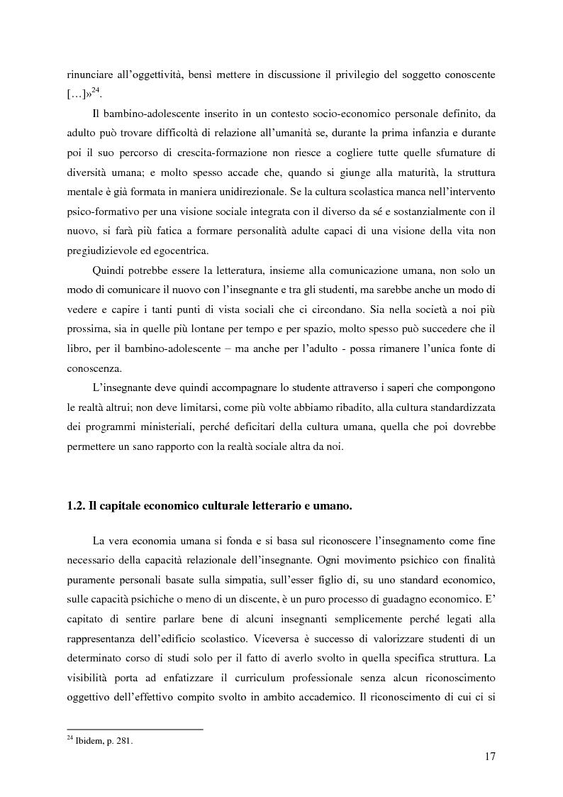 Anteprima della tesi: Identità umana, storia, letteratura. Il rapporto docente-studente., Pagina 14