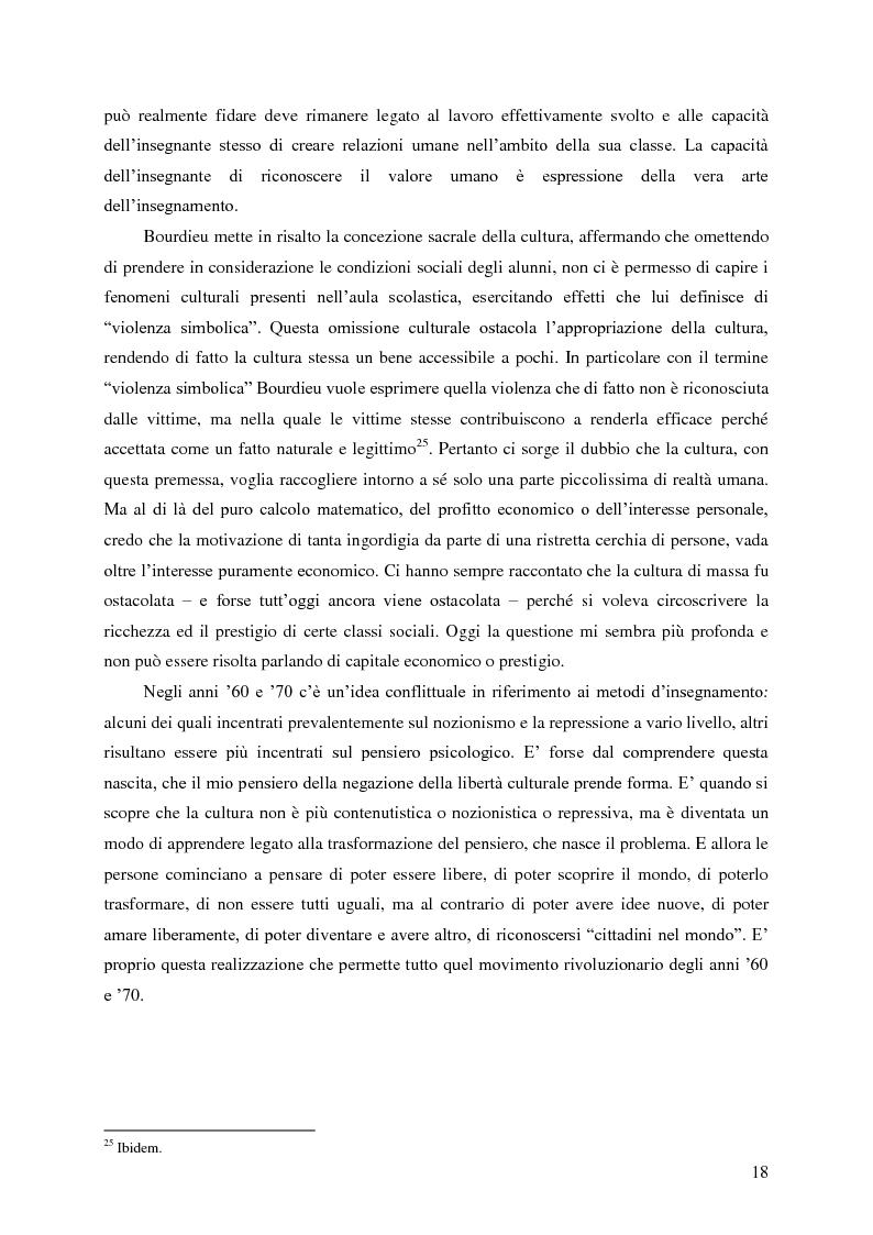 Anteprima della tesi: Identità umana, storia, letteratura. Il rapporto docente-studente., Pagina 15